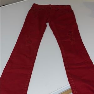 True Religion Straight Pants (Red)
